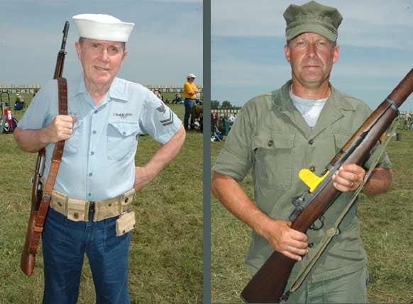 ... Navy Uniform (right) and Warren Cook in a Korean War Era Army Uniform